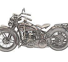 1930 Harley Davidson Motorcycle by surgedesigns