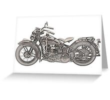 1930 Harley Davidson Motorcycle Greeting Card