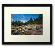 Old Wooden Fence on a Mountain Trail Framed Print