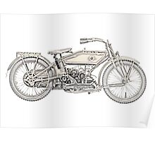 1919 Harley Davidson motorcycle Poster