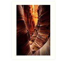 Zebra Slot Canyon Art Print