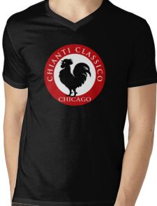 Black Rooster Chicago Chianti Classico Mens V-Neck T-Shirt