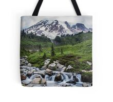 Mount Rainier View from Myrtle Falls Tote Bag