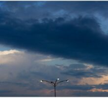 HDR Composite - A Proper Sky and Street Lamp Sticker