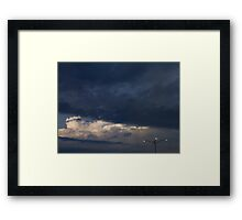 HDR Composite - A Square and Proper Sky with Lamp Framed Print
