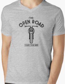 THE OPEN ROAD Mens V-Neck T-Shirt