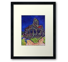'Church of Auvers' by Vincent Van Gogh (Reproduction) Framed Print
