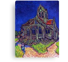 'Church of Auvers' by Vincent Van Gogh (Reproduction) Canvas Print