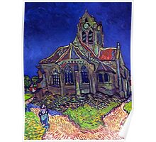 'Church of Auvers' by Vincent Van Gogh (Reproduction) Poster