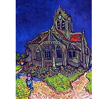 'Church of Auvers' by Vincent Van Gogh (Reproduction) Photographic Print