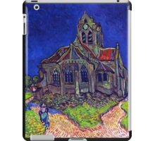 'Church of Auvers' by Vincent Van Gogh (Reproduction) iPad Case/Skin