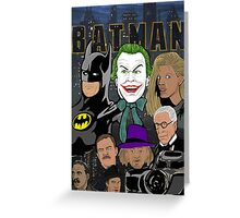 Tim Burton Batman 25th Anniversary collage painting Greeting Card