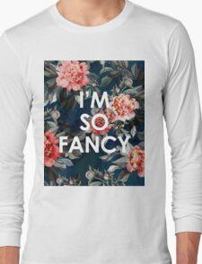 I'm So Fancy Iggy Azalea Inspired Watercolor Blush Peonies Art Print Long Sleeve T-Shirt