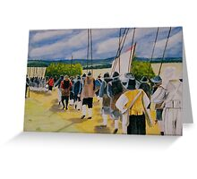 Marching to war Greeting Card