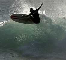 Surfing Culburra Beach #1 by Noel Elliot