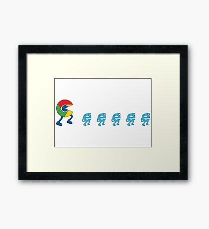 Google chrome vs internet explorer Framed Print
