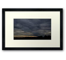 HDR Composite - Blue Sunset and Treeline Framed Print