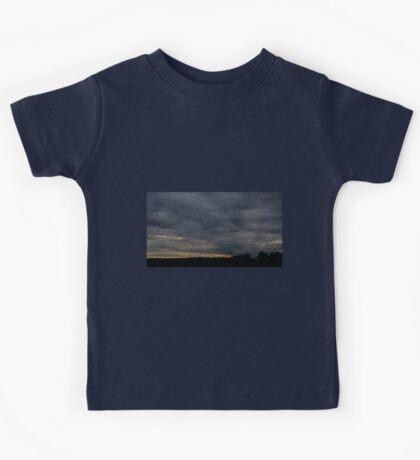 HDR Composite - Blue Sunset and Treeline Kids Tee