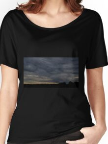 HDR Composite - Blue Sunset and Treeline Women's Relaxed Fit T-Shirt