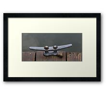HDR Composite - Boat Tie-up Framed Print