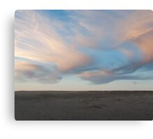 Painted pink clouds landscape photography Canvas Print