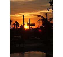 The Sun Sets On All Illusions Photographic Print