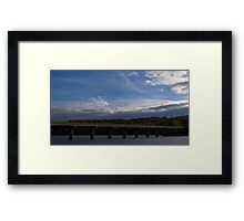 HDR Composite - Bridge and Sky Framed Print