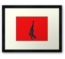 spiderman just hangin' Framed Print