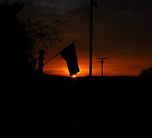 Flag Sunset by Chris Popa