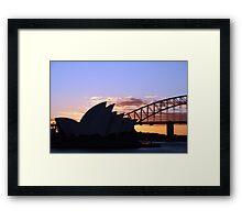 Sunset icons Framed Print