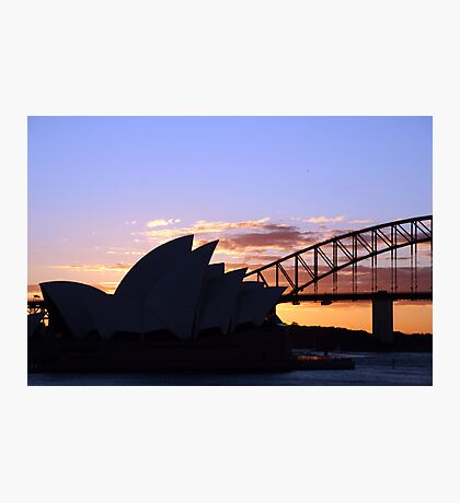 Sunset icons Photographic Print