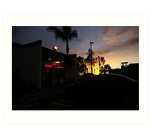 Bank Of America Sunset Art Print