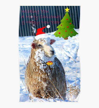 Hey! -  I Wanna Be Santa This Year! - Sheep - NZ Poster