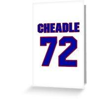 National football player Justin Cheadle jersey 72 Greeting Card