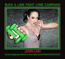 Suck a lime fight Lyme 2 (for dark colors) by JaedaRenaeGifts