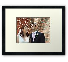 Bride and Groom Framed Print