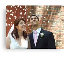 Bride and Groom Canvas Print