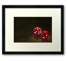 A game of chance Framed Print
