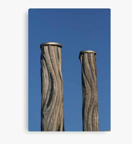 Newcastle Baths Poles Canvas Print