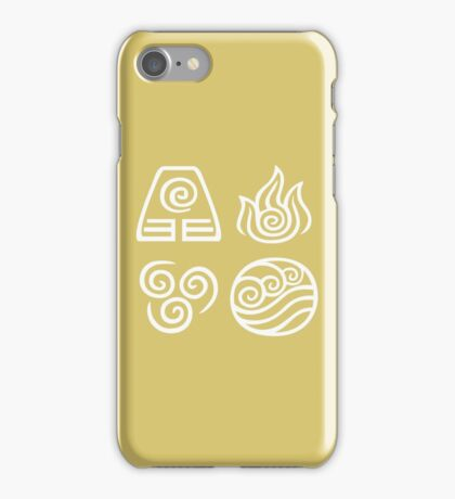 Bending All Four Elements - Yellow iPhone Case/Skin