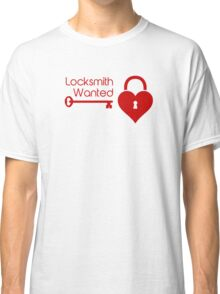 Locksmith Wanted Valentine's Day Heart Lock Classic T-Shirt