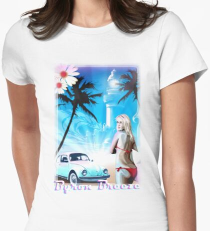 Byron bay Breeze T Womens Fitted T-Shirt
