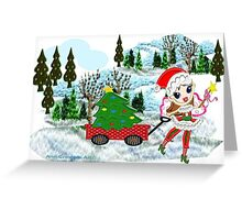 A Christmas Fairy in winter wonderland  Greeting Card