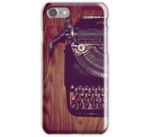 Typewriter on hardwood floor iPhone Case/Skin