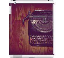 Typewriter on hardwood floor iPad Case/Skin