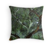 Moonlit Willow Throw Pillow