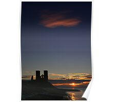 Reculver Sunset 1 Poster