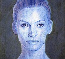 Blue Portrait by Philip Smeeton
