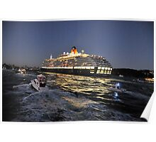 A City On The Move - Queen Victoria, Sydney Harbour, Sydney Australia Poster