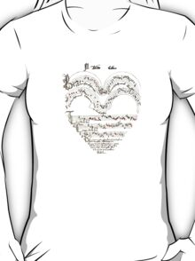 Chanson L'Amour: Vintage Romance T-Shirt